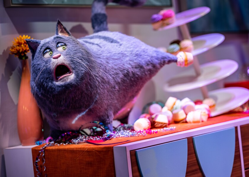 """Each scene on Universal's """"Secret Life of Pets"""" ride is full of stories-within-stories."""