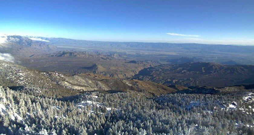 The view Saturday morning from Toro Peak in the Santa Rosa Mountain region.