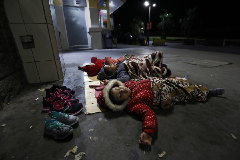 SAN PEDRO SULA, HONDURAS--NOV.7, 2018--The children of Yong Yobay Rodriguez, 36, all under the age o
