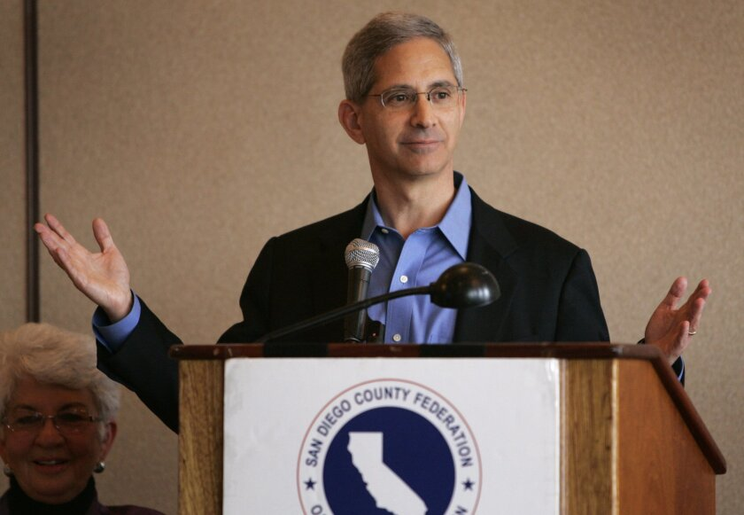 Steve Poizner, the state insurance commissioner and a candidate for governor, addressed the San Diego County Federation of Republican Women in Mission Beach yesterday.