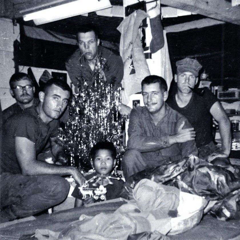 """Neil said his Marine platoon """"kind of adopted"""" GTO, once sneaking him into a Christmas party."""