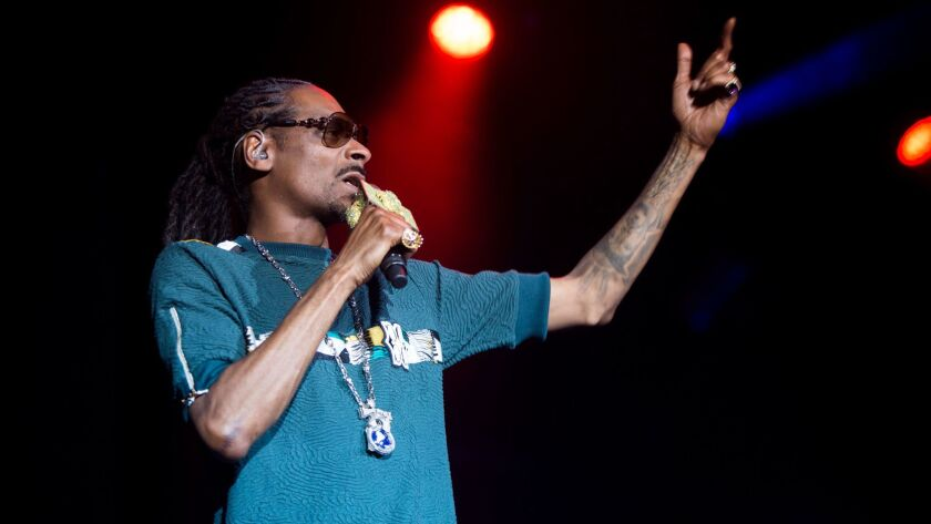 Snoop Dogg performs at the Hard Summer fest.