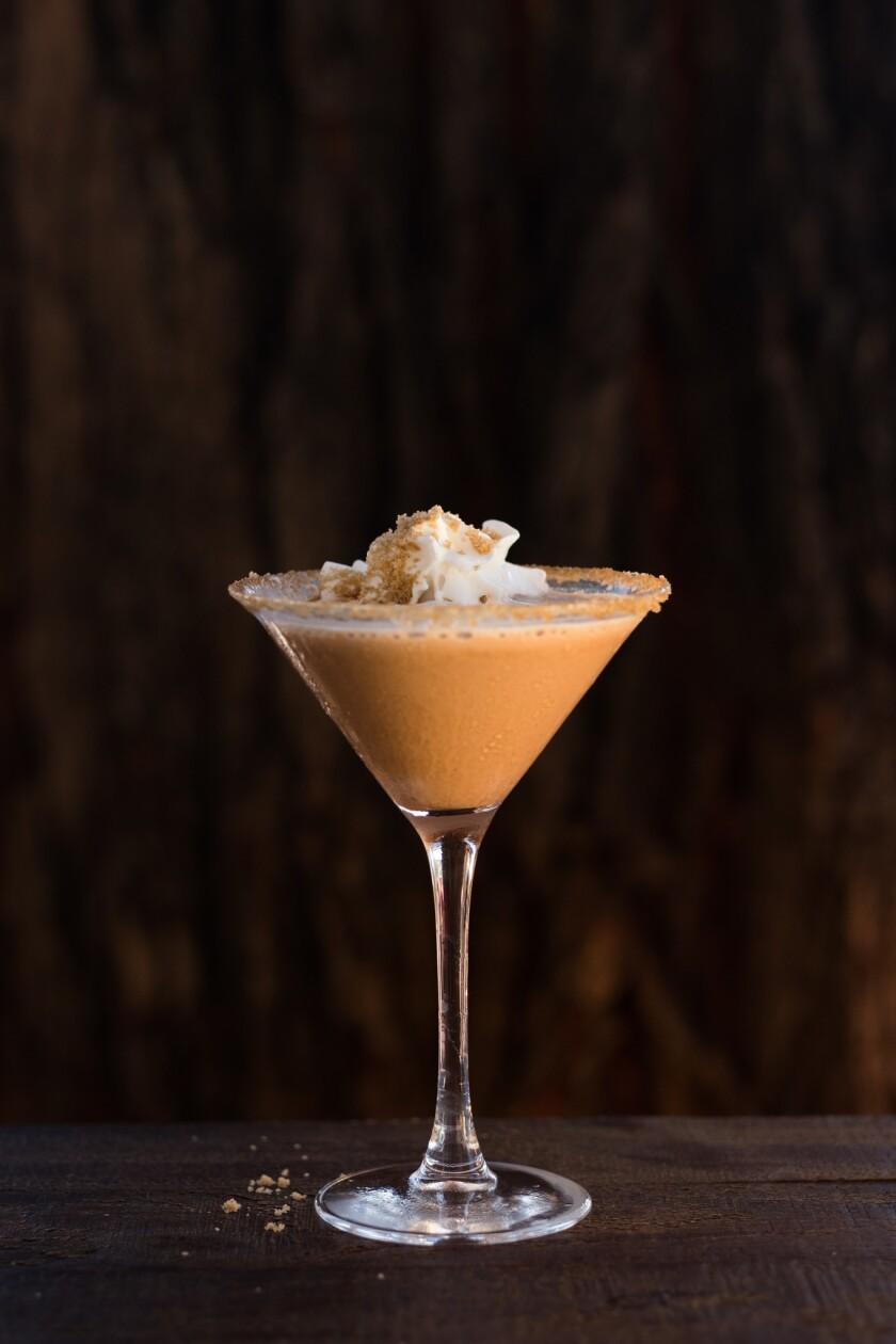 A Gingerbread Martini fromVeranda Fireside Lounge at the Rancho Bernardo Inn.