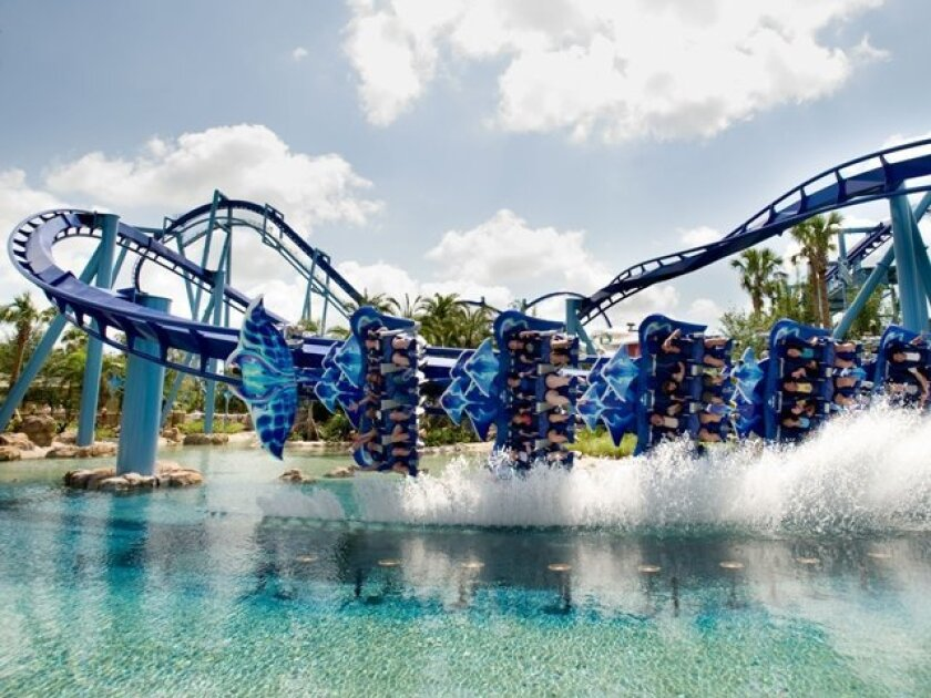 A new ride planned for SeaWorld San Diego may look like the Manta roller coaster at the Orlando park.