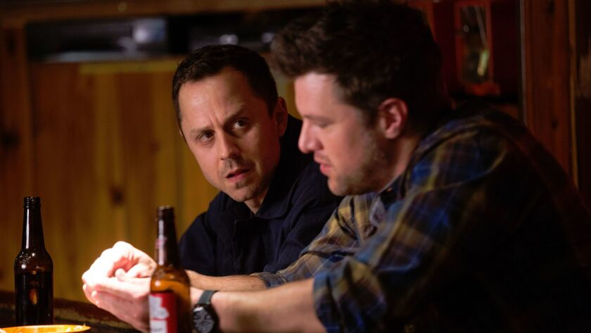 "From left to right: Giovanni Ribisi as Marius/Pete and Shane McRae as Taylor Bowman in the Amazon Prime Video series ""Sneaky Pete."""