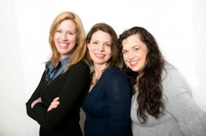 From left, BlogHer co-founders Lisa Stone, Jory Des Jardins and Elisa Camahort Page