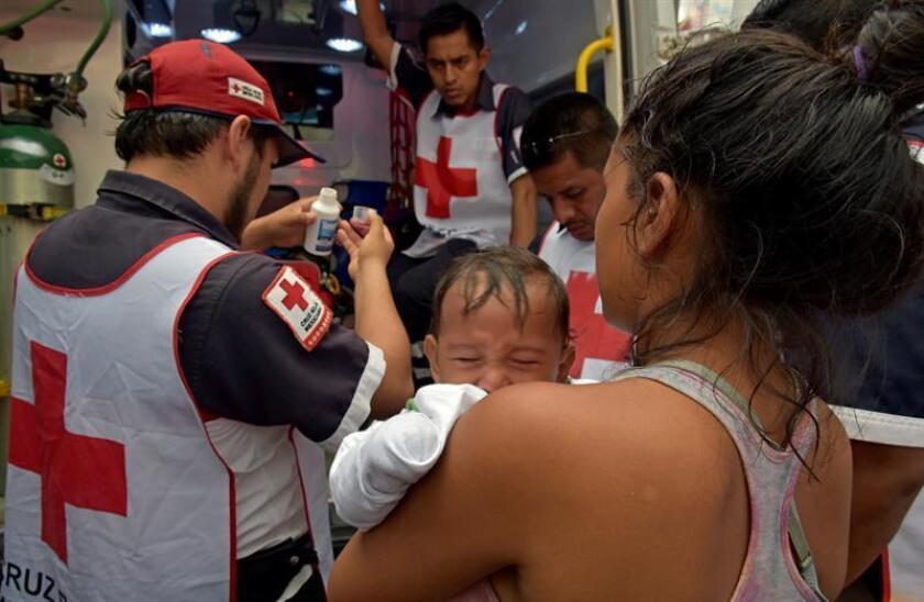 El Gobierno de Ciudad de México informó hoy que, como parte del Puente Humanitario para el éxodo migrante, ha otorgado 771 consultas médicas a personas provenientes de Honduras, Guatemala, Nicaragua y El Salvador. EFE/ARCHIVO
