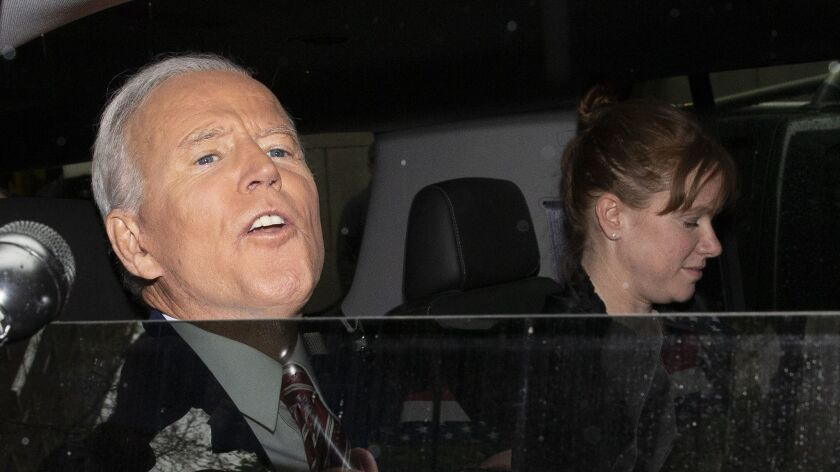 Former Vice President and Democratic presidential candidate Joe Biden is shown after appearing on AB