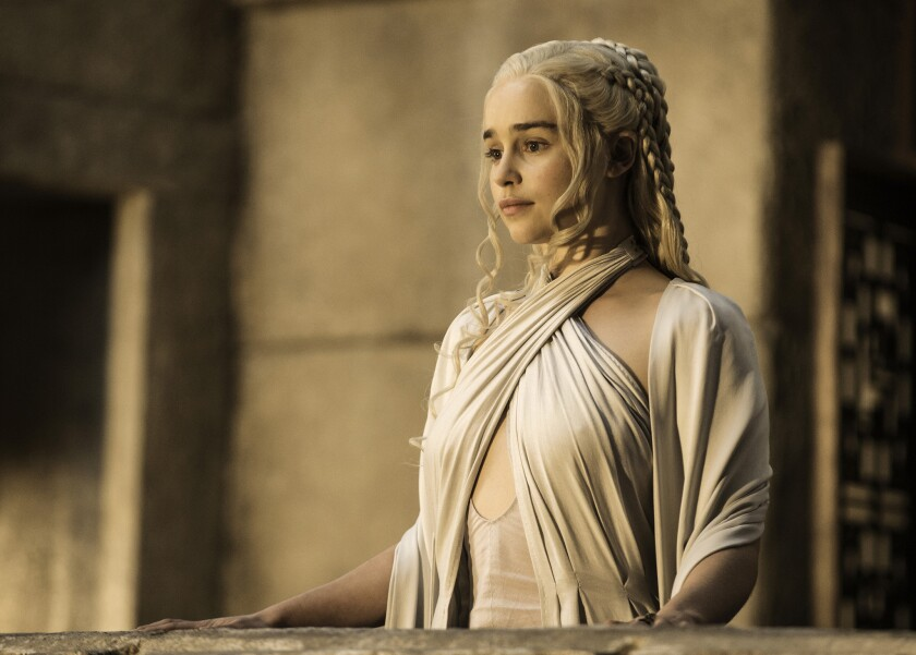 "Emilia Clarke in the Emmy-winning HBO series ""Game of Thrones."""