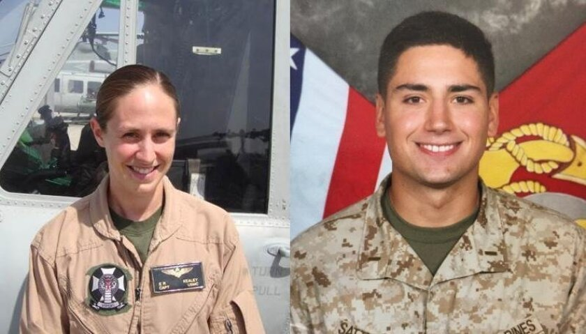 Capt. Elizabeth Kealey, 32, and 1st Lt. Adam Satterfield, 25, were killed when the UH-1Y Huey helicopter they were training in crashed.