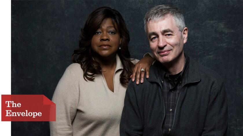 "Chaz Ebert, left, and director Steve James, the director of ""Life Itself."""