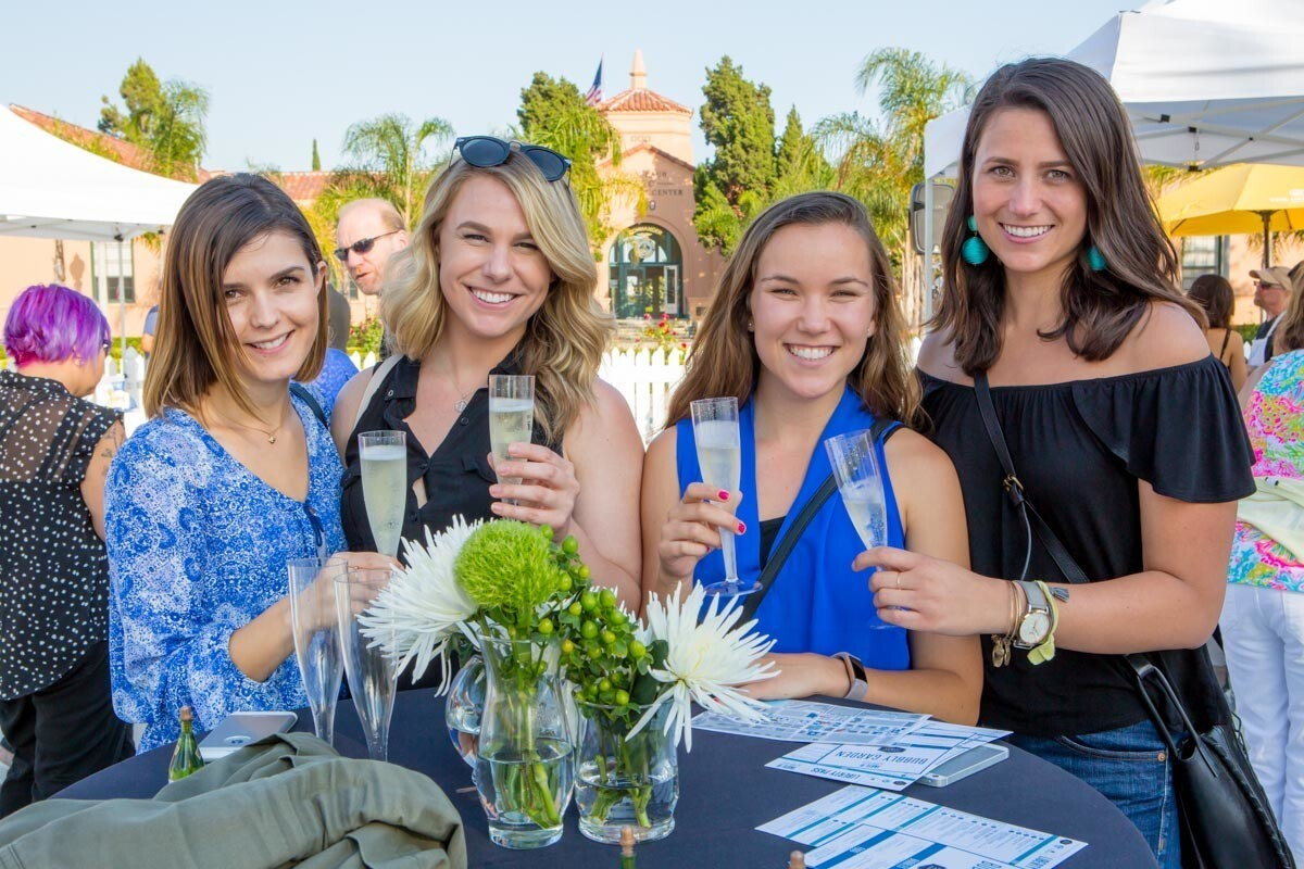 Guests at the inaugural Taste of Liberty Station were treated to tasty bites, music and art on June 21, 2017. (Bradley Schweit)