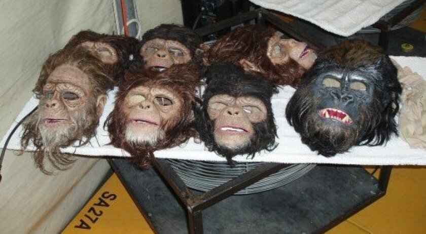 Masks used in the show (Photo: Rocky Smolin)