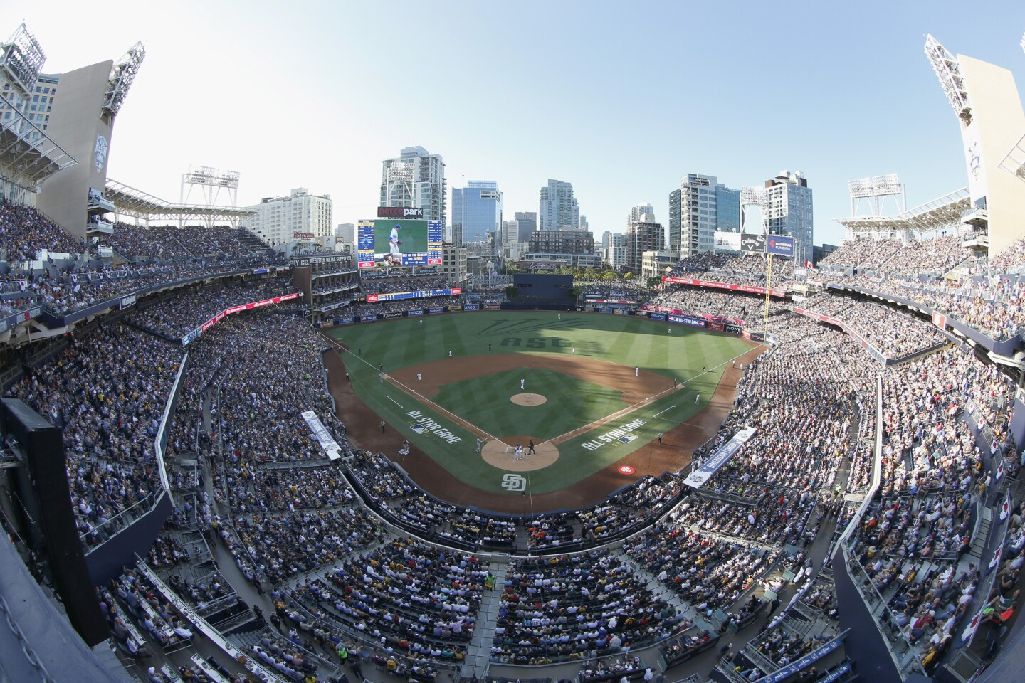 SAN DIEGO, CA - JULY 12: A view of the ball park during the 87th Annual MLB All-Star Game at PETCO Park on July 12, 2016 in San Diego, California. (Photo by Todd Warshaw/Getty Images) ** OUTS - ELSENT, FPG, CM - OUTS * NM, PH, VA if sourced by CT, LA or MoD **