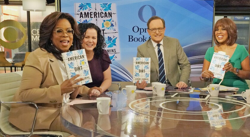 Oprah Winfrey with Jeanine Cummins