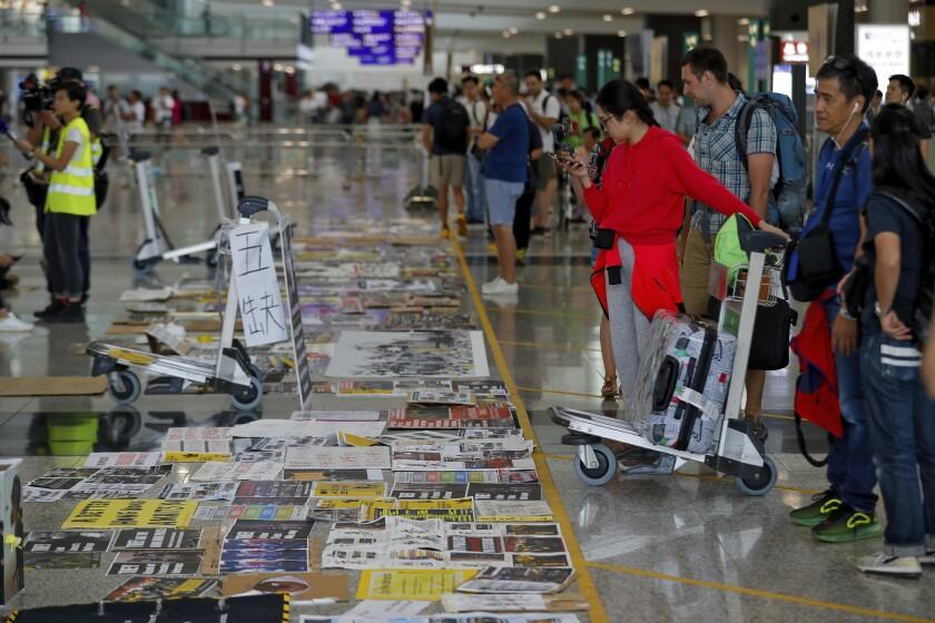 Protests at Hong Kong airport