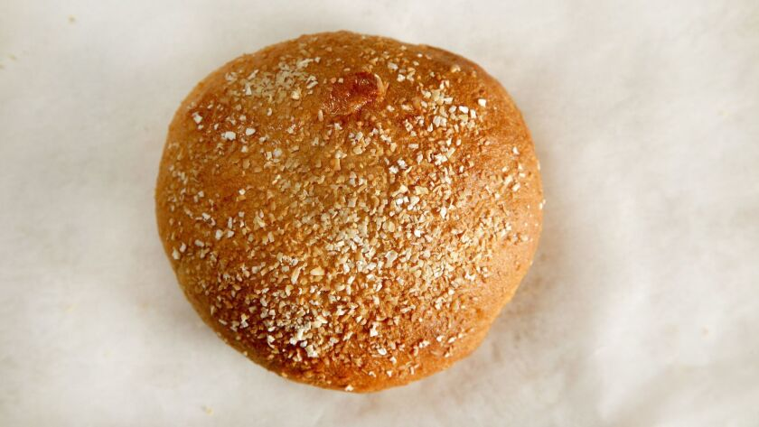 WEST HOLLYWOOD, CA., JUNE 7, 2018--Recipes for 3 different homemade hamburger buns:whole wheat (Kirk