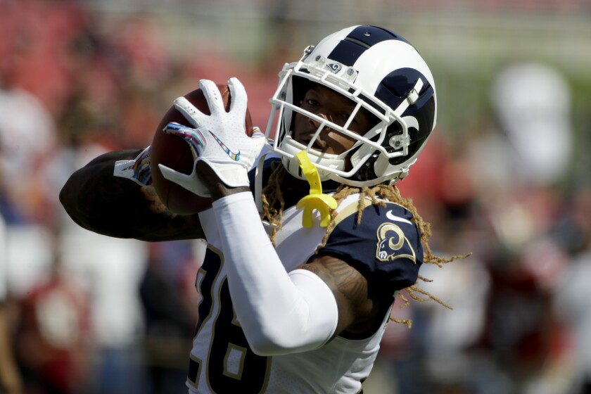 Rams defensive back Marqui Christian warms up before a game against the San Francisco 49ers on Oct. 13.