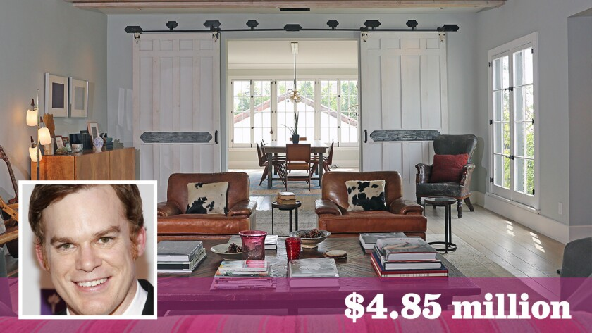 Actor Michael C. Hall has put his home in the Los Feliz area of Los Angeles on the market for $4.85 million.