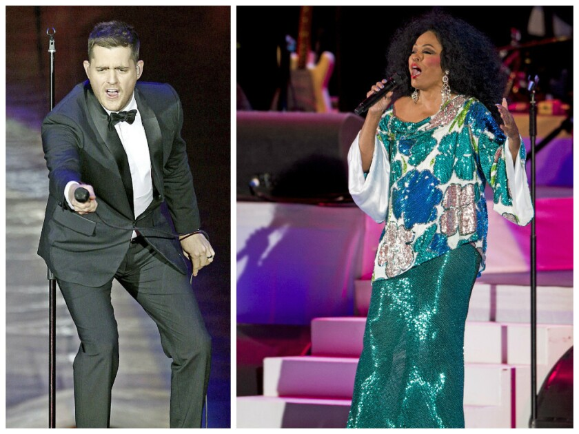 Michael Buble and Diana Ross are among the stars who will perform at the Montreal jazz festival in June and July.
