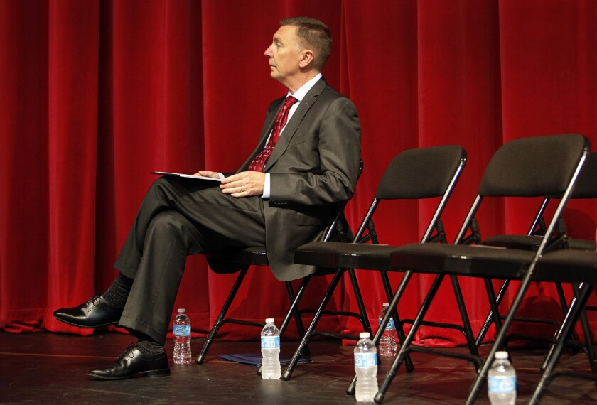 L.A. schools chief John E. Deasy at the Superintendent's Annual Administrators Meeting at Garfield High School on Aug. 5