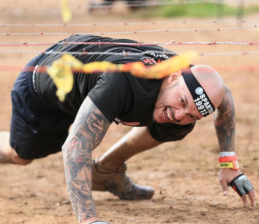 Brandon Iwai does Spartan training
