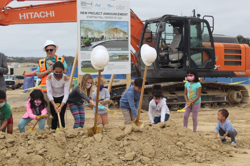 Future Pacific Sky students helped with the groundbreaking.
