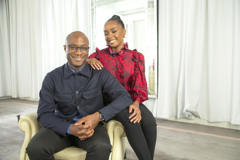 BEVERLY HILLS, CA., NOVEMBER 5, 2018 ---Director Barry Jenkins and actress KiKi Layne, the star of h