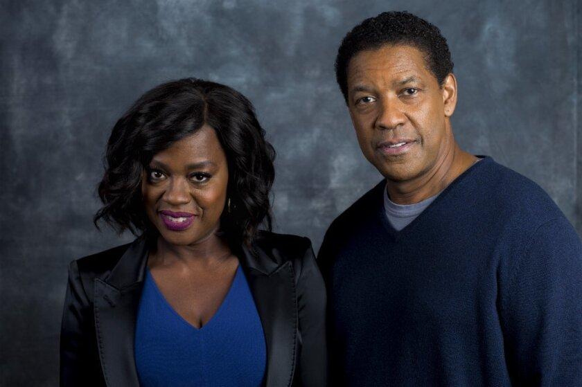 "Viola Davis and Denzel Washington: Favorites to win Oscars for ""Fences."""