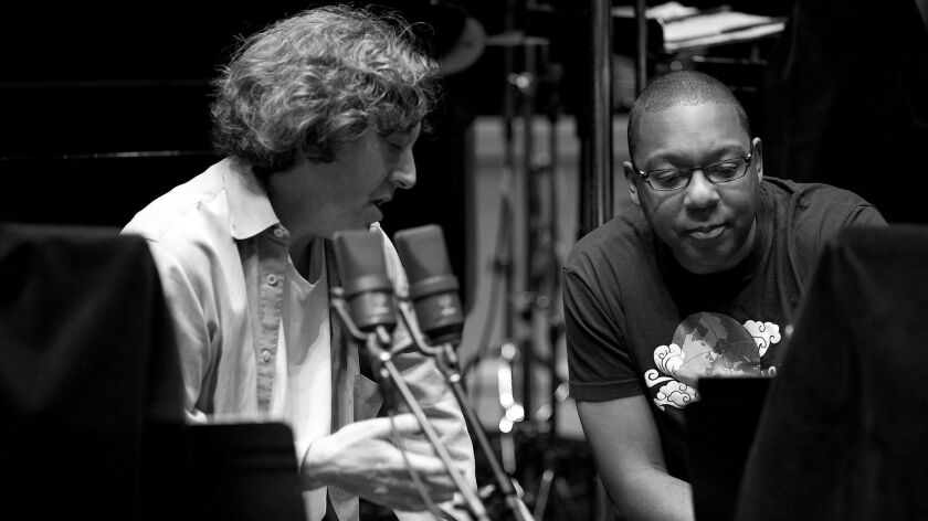 """Director Dan Pritzker with Wynton Marsalis, who did the soundtrack for """"Bolden."""""""