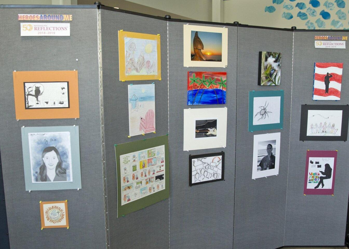 Earl Warren Middle School Reflections Art Program Showcase