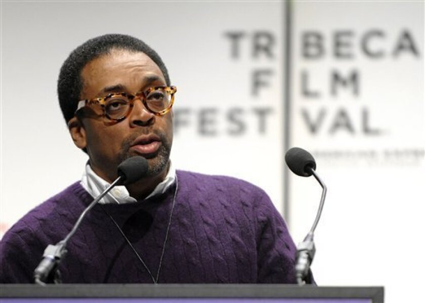 FILE - In this April 21, 2009 file photo, director Spike Lee speaks at a news conference to kick off the 8th annual Tribeca Film Festival, in New York. (AP Photo/Peter Kramer, file)