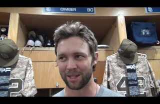 Adam Cimber on getting his first major league win, a beer shower from teammates and more