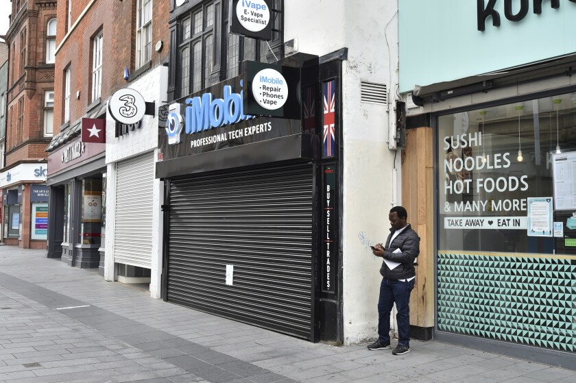 Closed shops in Leicester, England