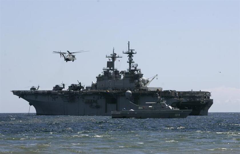 El buque de la armada de Estados Unidos Kearsarge, y una unidad de la marina federal abandonarán Puerto Rico tras su participación en la ayuda a la isla por el paso del huracán María. EFE/ARCHIVO