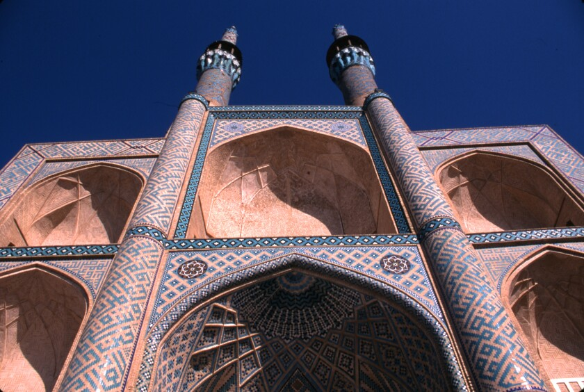 The Amir Chakhmaq Mosque, completed in the 15th century, Yazd, Iran, 1998.