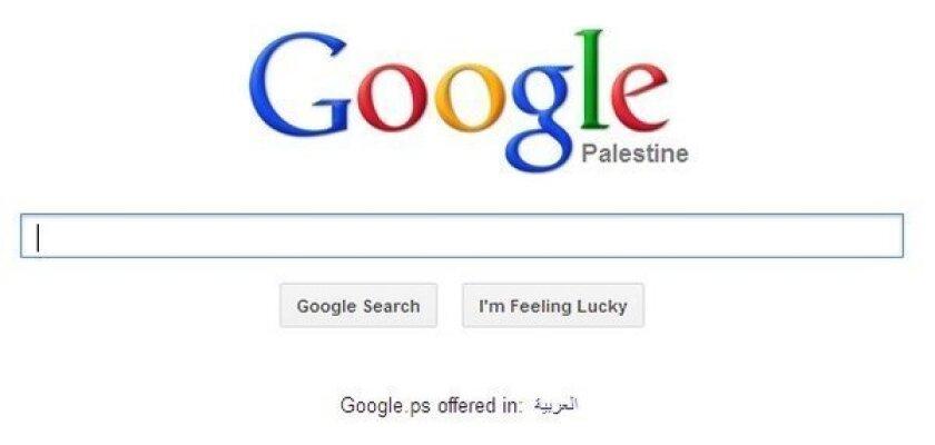 Google gives a virtual nod to 'Palestine'