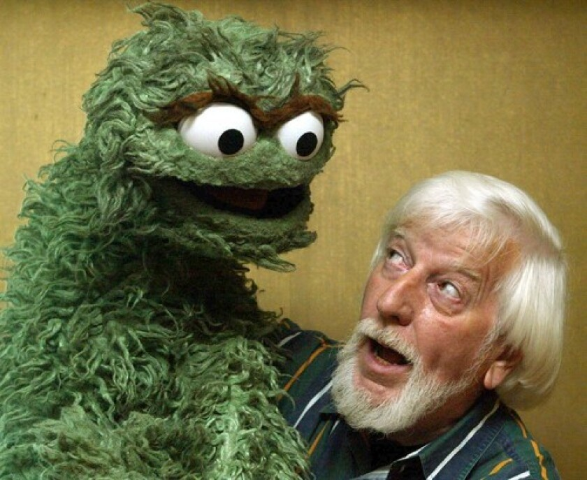 Oscar was given voice by the great Caroll Spinney, who was also the voice of Big Bird.