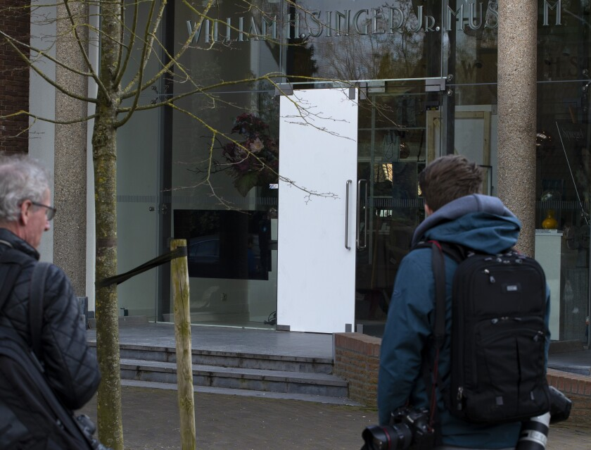 Virus Outbreak Netherlands Museum Break-in