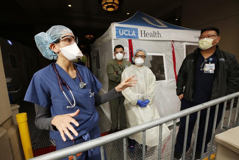 Emergency room physician Dr. Lisa Dabby with UCLA Medical Center Santa Monica