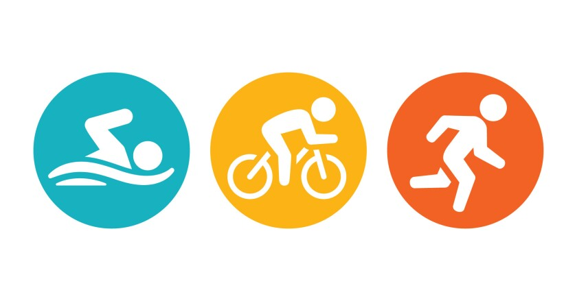 Triathlon stages represented. Swimming, Biking, Running. ** OUTS - ELSENT, FPG, CM - OUTS * NM, PH,