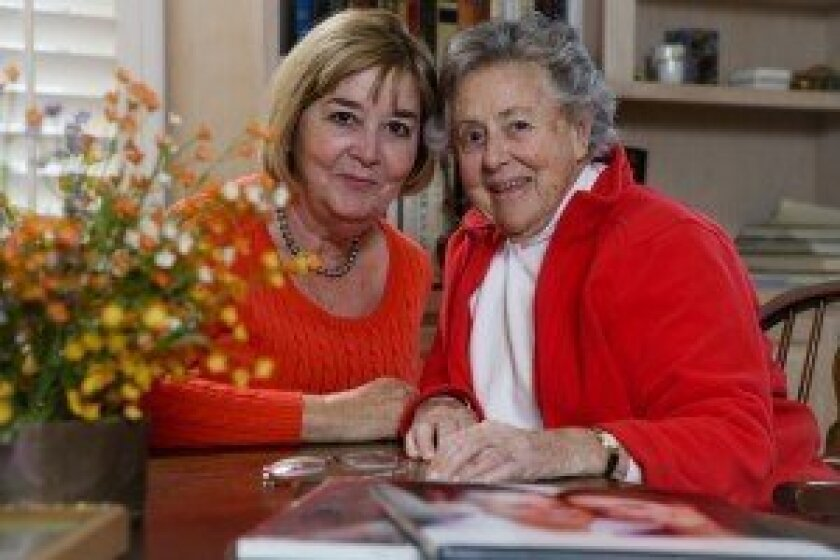Patricia Berman (right) with Pat Fowler (left), one of her three caregivers from Seniors Helping Seniors. Courtesy photo
