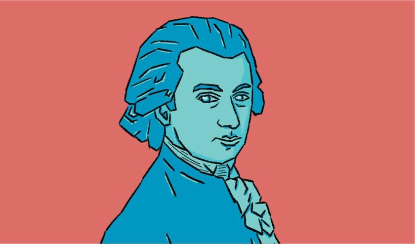 Illustration of Mozart