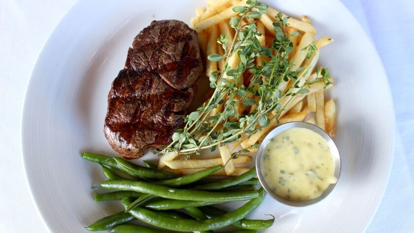 Parc's Filet and Pomme Frites.