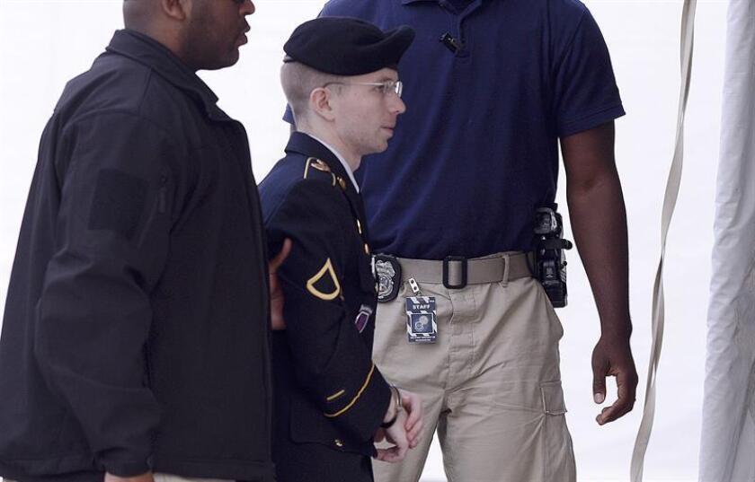 La exsoldado Chelsea Manning conocida anteriormente como Bradley. EFE/Archivo