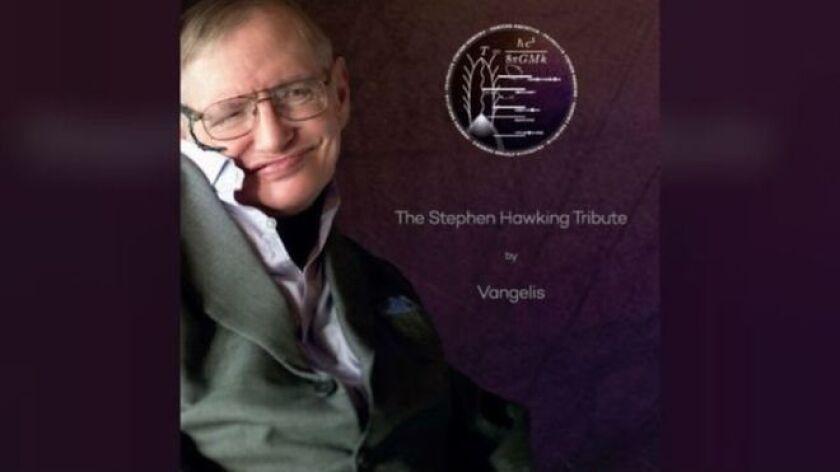 Los asistentes al servicio en memoria de Hawking recibieron una copia del CD con las palabas del físico acompañadas de la música de Vangelis.