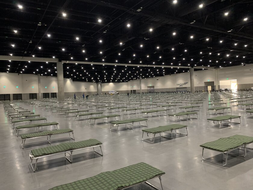 Convention Center opens as homeless shelter