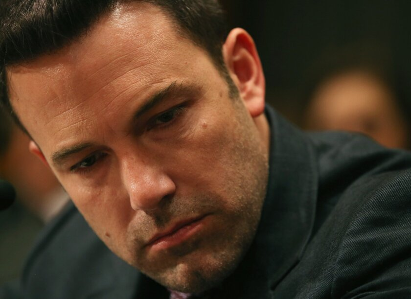 Ben Affleck, founder of the Eastern Congo Initiative, listens to testimony during a Senate committee hearing on Capitol Hill in March on diplomacy, development and national security in regards to Africa.