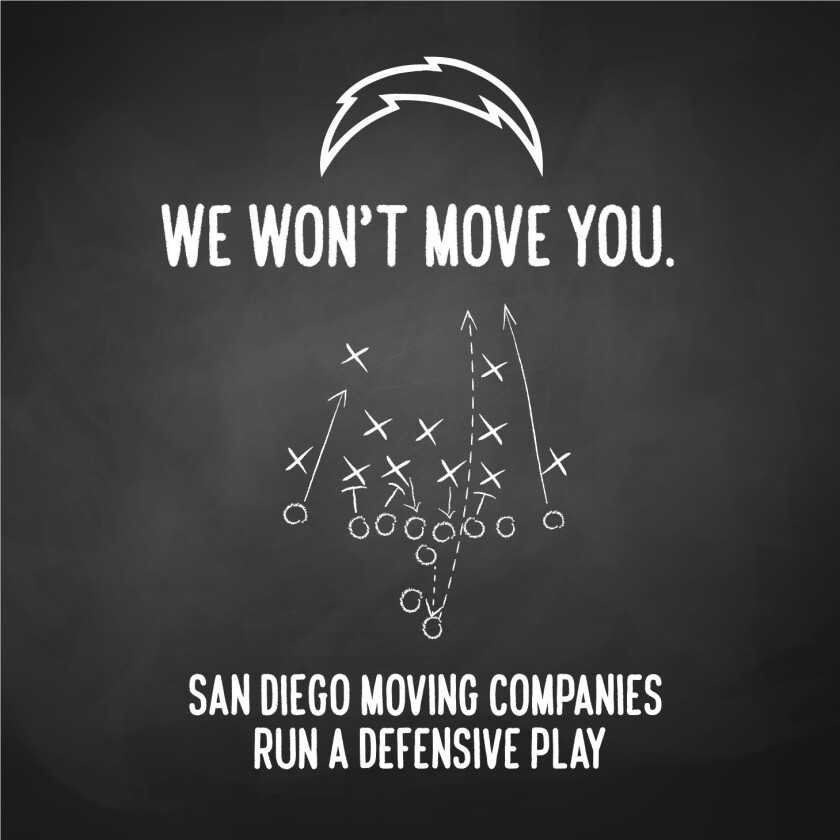 Local movers make a pact not to help the San Diego Chargers' move to Los Angeles.