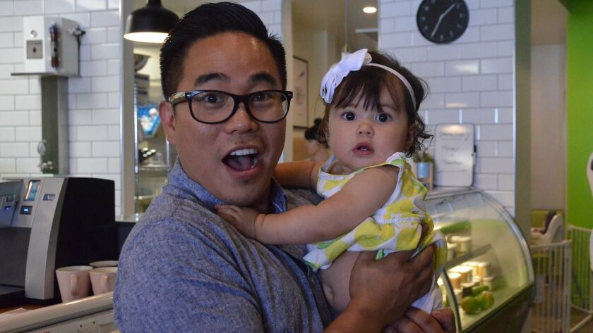 Jeff Chon, established entrepreneur of two other center restaurants, Tabu Shabu and Oak & Coal, hold